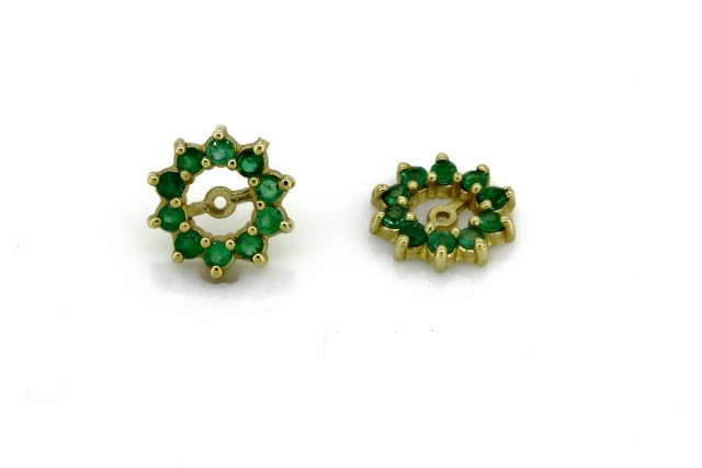Earring Jackets In 14kt Yellow Gold